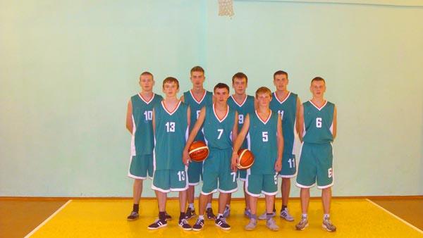 Команда Скидельского ГСПЛ по баскетболу